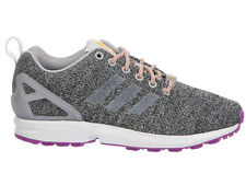 NEW WOMENS ADIDAS ORIGINALS ZX FLUX RUNNING SHOES TRAINERS SOLID GREY / SOLID GR