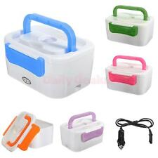 12V  Electric Heated Portable Compact Food Warmer Lunch Bento Box 5 Colors