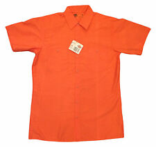 NEW! Dickies Men's Industrial Work Uniform Orange Shirts SP24OR - Limited Supply