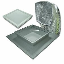 Acol SQUARE KIT ACRYLIC TRADELITE SKYLIGHT KIT for Tile Roof – 400mm or 550mm