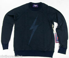 Lightning Bolt Long Sleeve Crew Neck Sweater Big Bolt Black Iris Lightning Bolt