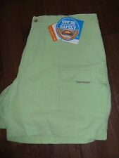 Mens Columbia Brewha II Key Lime Green Fishing Hiking Shorts PFG UPF 50 7 Inseam