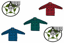 Lumberjack Shirt Thermo Jacket Checkered Red Blue Green Black