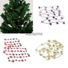 Xmas Tree Hanging Ornament Party Snowflake Beaded Chain Christmas String Garland