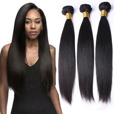 Straight Brazilian Virgin Hair 100% Human Hair Weave Extensions 1 Bundle 100g
