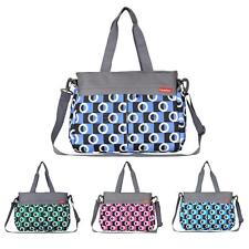 Mummy Bag Tote Baby Nappy Diaper Changing Bag Maternity Shoulder Bag Set w/Mat