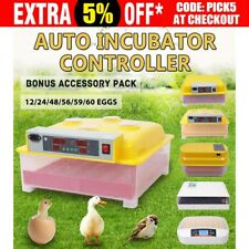 Eggs Egg Incubator Fully Automatic Digital LED Chicken Duck Poultry Hatcher AU