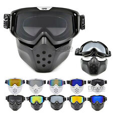 High Quality Detachable Goggles Nose Face Mask Modular Motorcycle Shield Helmet