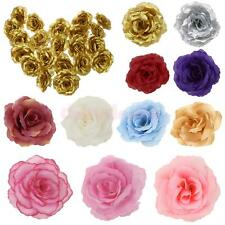 20Pcs Silk Rose Heads Artificial Flowers Wedding Party Decoration DIY Craft