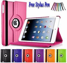 PU Leather 360 Rotating Smart Folding Stand Case Cover For Apple iPad Air 5 UK