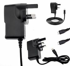UK MAINS MICRO USB Wall Plug Charger Adapter Cable Wire For Various Phone Models