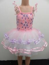 Dance Costume Extra Small/Small Child Pink Floral Tutu Ballet Solo Competition
