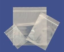 Grip Seal Bags Self Resealable Polythene Clear Plastic Bags ALL SIZES & QUANTITY