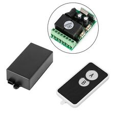 DC 12V 2 CH Signal Wireless RF Remote Control Receiver Relay Switch 315/433mhz