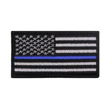THIN BLUE LINE Operator Cap & Flag Patch Support Sheriff Police Law Enforcement