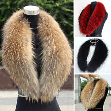 Warm Large 100% Real Fur Collar Scarf Wrap Shawl Cape UK Winter Xmas Gift Fur
