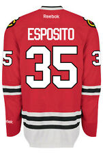Tony Esposito Chicago Blackhawks Reebok Premier Home Jersey NHL Replica