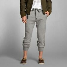 NEW ABERCROMBIE & FITCH PANTS for MEN * A&F Jogger Sweatpants * H Grey * L/XL