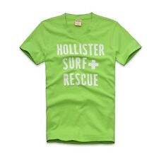 NEW HOLLISTER GRAPHIC TEE SHIRT for MEN * Surf Rescue T-Shirt * Green * S M L XL