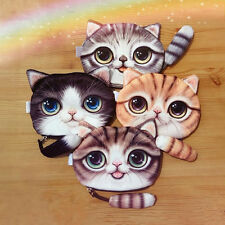3D Cat Face Tail Coin Purse Wallet Bag Change Pouch Key Holder Handbag Cute New