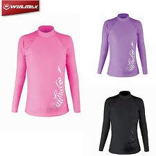 W Lycra Long Sleeve Wetsuit Shirt Scuba Diving Swimming Surfing Rash Guard Women