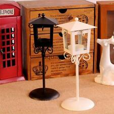 Black White Vintage Street Lamp Design Candle Holder Tealight Candlestick Stand