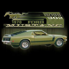 Ford Mustang Boss 302 Old School American Muscle Hot Rat Rod Car T-Shirt Tee