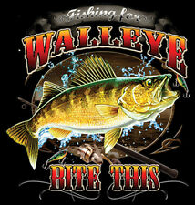 Fishing For Walleye Bite This Funny T-Shirt Tee