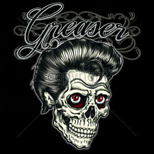 Greaser Day Of The Dead Sugar Skull T-Shirt Tee