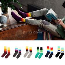 1 Pair Mens Casual Cotton Socks Multi-Color Fashion with Full Cotton
