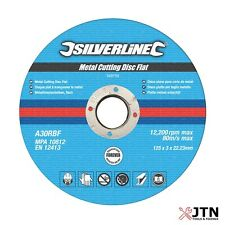 Silverline Metal Cutting Discs Flat 115mm, 125mm, 230mm - Angle Grinder Grinding