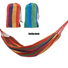 NEW Portable Canvas Rope Outdoor Swing Fabric Camping Hanging Hammock Canvas Bed