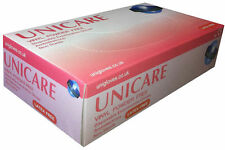 Unicare Latex Free Vinyl Powder Free Gloves All Sizes Disposable Gloves