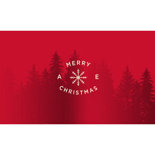 American Eagle Gift Card - Red Merry Christmas $25 $50 or $100 - Email delivery
