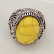 Vintage 316L Stainless Steel Vogue Design Mini Stone Ring New Size 8 9 10 11 &