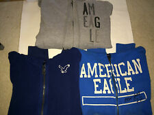 Pick! AMERICAN EAGLE AE Women Full Zip Hoodies Blue Gray M L Graphic Fleece Soft