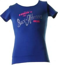 BACI & ABBRACCI Crew Neck T-Shirt Women's 95% cotton- 5% elastane blue BA 19702