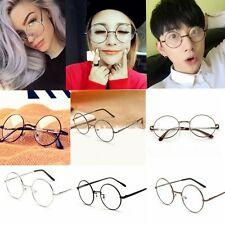 New Arrival Vintage Cool Unisex Round Metal Frame Clear lens Retro Geek Glasses