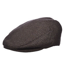 242 - DPC Brown Wool Blend Quilted Lining Ivy Cap