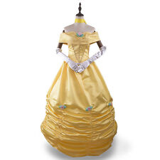 Beauty and the Beast Princess Belle Fancy Dress Costume Prom Ball Gown Customize