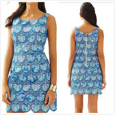 Authentic Lilly Pulitzer $298 Aralyn Shell Eyelet Shift Dress Beach