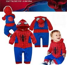 Baby Boy Spiderman Costume Halloween Fancy Party Dress Outfit Clothes Gift 6-24M