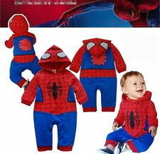 Baby Boy Spiderman Costume Carnival Fancy Party Dress Outfit Clothes Gift 6-24M