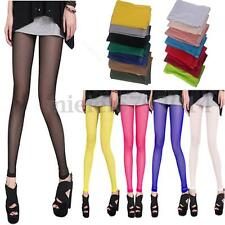 Microfib Opaque Footless Tights Sexy Women's Stretch Pantyhose Stockings Socks