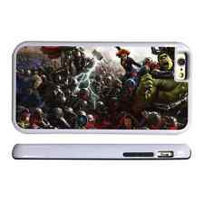 MARVEL SUPERHEROES WHITE PROTECTIVE PHONE CASE COVER FITS IPHONE 4 5 6 7