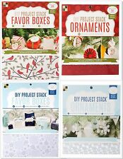 DCWV DIY Project Stack Christmas/Winter FAVOR BOXES or ORNAMENTS - CHOOSE ONE!