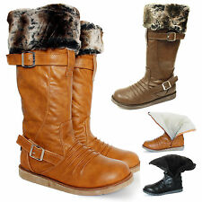 WOMENS LADIES SOFT WINTER BOOTIES FUR LINED SLIPPERS BOOTS FAUX SUEDE SIZES 3-8