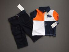 Ralph Lauren Polo big Match Pony Color Block Pants Polo outfit 9 Months NWT