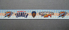 "OKC Thunder 5/8"" Grosgrain 'Thunder Up' Craft Ribbon - 3 or 5 Yards"