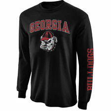 Georgia Bulldogs Black Arch & Logo Long Sleeve T-Shirt